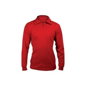 zip-polo-neck-red
